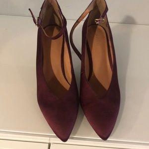 Wine colored Halogen satin heels